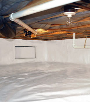 A complete crawl space repair system in Barnesville