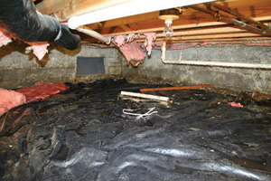Crawl Space Repair Before in Macon