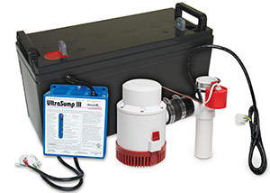 a battery backup sump pump system in Pine Mountain