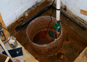 Extreme clogging and rust in a Pine Mountain sump pump system